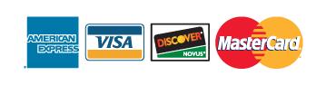 NAGR accepts American Express, VISA, Discover and MasterCard