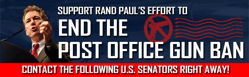 Banner - End the Post Office Gun Ban