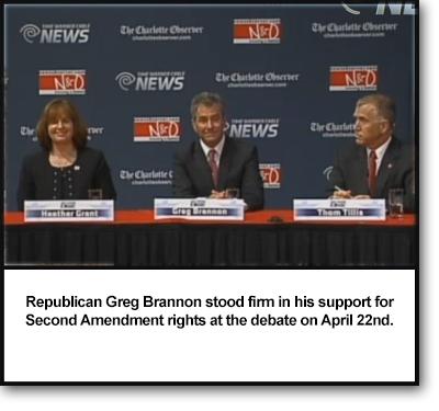 Image: Greg Brannon's pro-gun statements