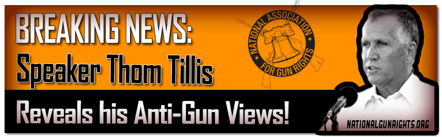 Thom TIllis reveals anti-gun positions