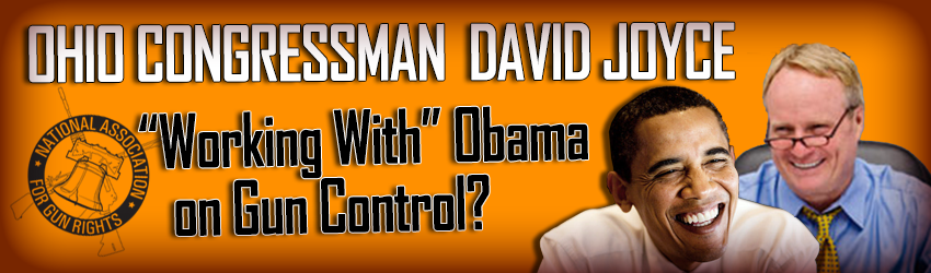 Congressman Divid Joyce Working With Obama on Gun Control?